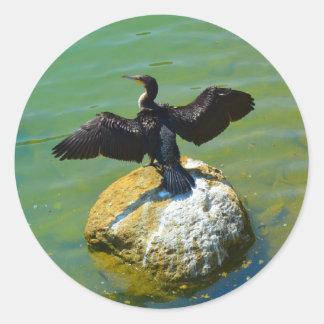 Cormorant Round Sticker