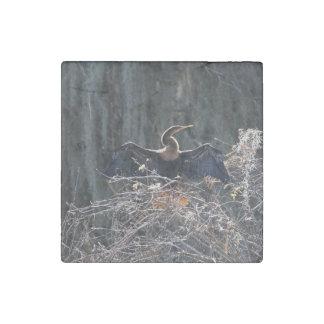 Cormorant Stone Magnet
