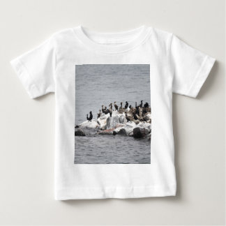 Cormorants on the island of the river baby T-Shirt