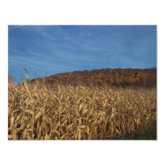 Corn and Blue Sky moon 11 Cm X 14 Cm Invitation Card