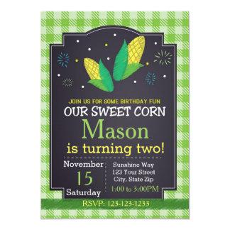 Corn Birthday Invitation