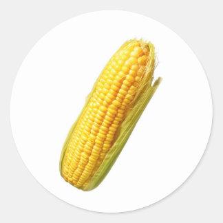 corn classic round sticker