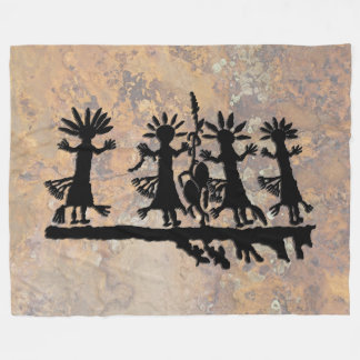 Corn Dance Ceremony Fleece Blanket