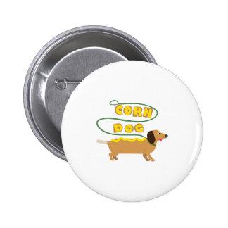 Corn Dog 6 Cm Round Badge