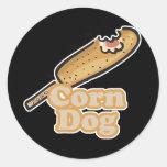 corn dog round stickers