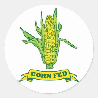 Corn Fed Classic Round Sticker