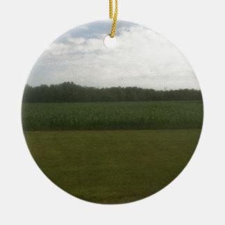 Corn Field Christmas Ornament