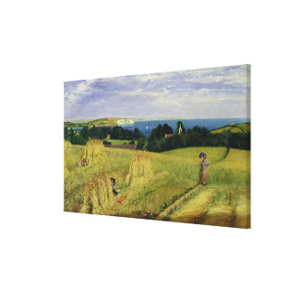 Corn Field in the Isle of Wight Canvas Print
