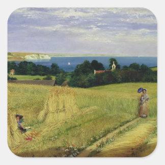Corn Field in the Isle of Wight Square Sticker
