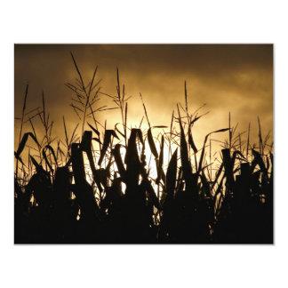 Corn field Silhouettes 11 Cm X 14 Cm Invitation Card