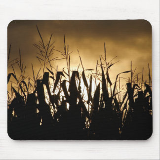 Corn field Silhouettes Mouse Mat