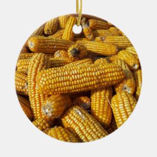 Corn Harvest Round Ceramic Decoration