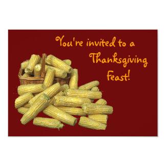 Corn Harvest Thanksgiving 13 Cm X 18 Cm Invitation Card