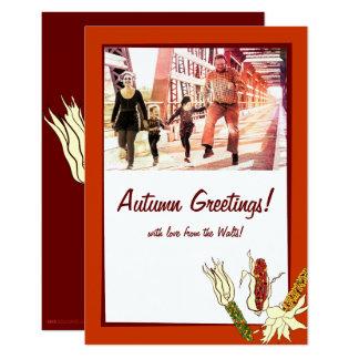 Corn Husks: Customized Photocard Card