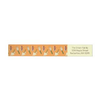 Corn Husks: Orange-Yellow Return Address Labels Wraparound Address Label