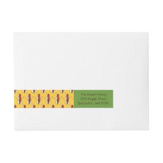 Corn Husks: Yellow Return Address Labels Wraparound Address Label