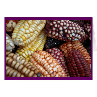 Corn in Cusco Market Card