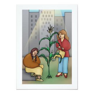 Corn in the City 11 Cm X 16 Cm Invitation Card