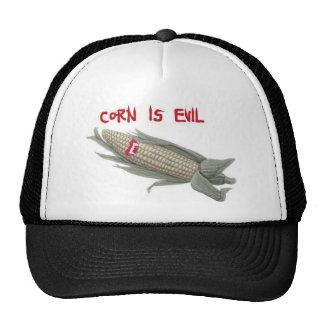 corn is evil2 trucker hat