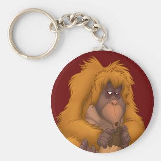 Corn-Jug-Playin' Orangutan Keychain