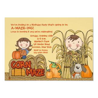 Corn Maze Party (Boy) Invitation