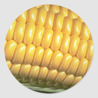 Corn on the cob round sticker