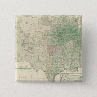 Corn per square mile 15 cm square badge