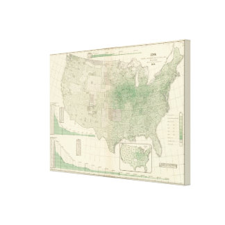 Corn per square mile canvas print