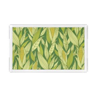 Corn plants pattern background