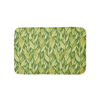 Corn plants pattern background bath mat