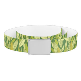 Corn plants pattern background belt