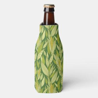 Corn plants pattern background bottle cooler