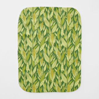 Corn plants pattern background burp cloth