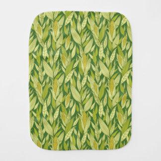 Corn plants pattern background burp cloths