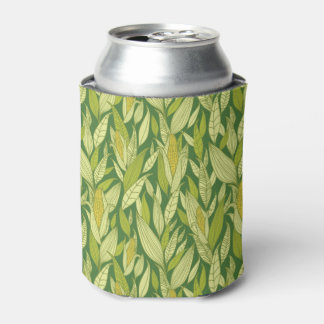 Corn plants pattern background can cooler