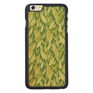Corn plants pattern background carved maple iPhone 6 plus case