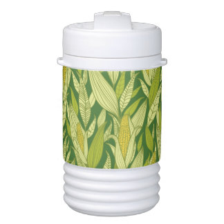 Corn plants pattern background cooler