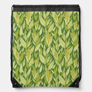 Corn plants pattern background drawstring bag