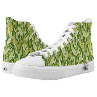 Corn plants pattern background high tops