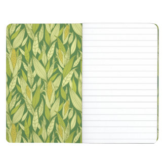 Corn plants pattern background journal