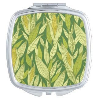 Corn plants pattern background makeup mirrors