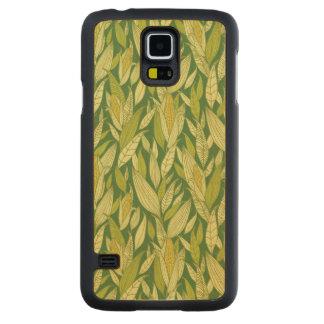 Corn plants pattern background maple galaxy s5 slim case