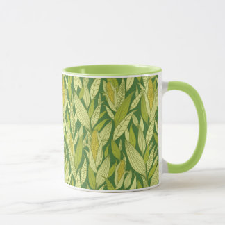 Corn plants pattern background mug