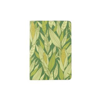 Corn plants pattern background passport holder