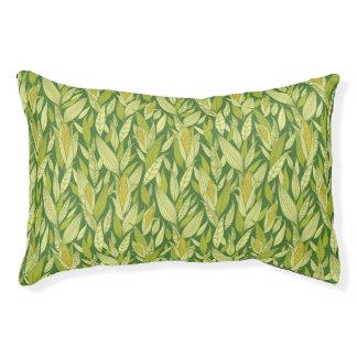 Corn plants pattern background pet bed