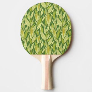 Corn plants pattern background ping pong paddle
