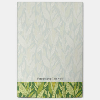 Corn plants pattern background post-it notes