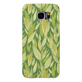 Corn plants pattern background samsung galaxy s6 cases