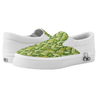 Corn plants pattern background slip on shoes