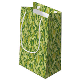 Corn plants pattern background small gift bag
